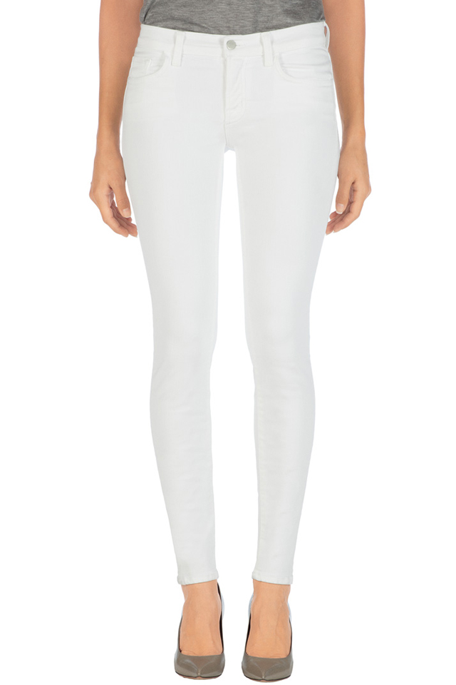 J Brand 811 Mid-rise Jean in White